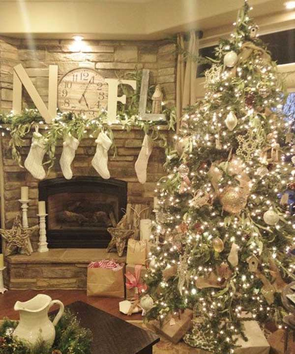 Christmas tree, Antique-White-Victorian hues