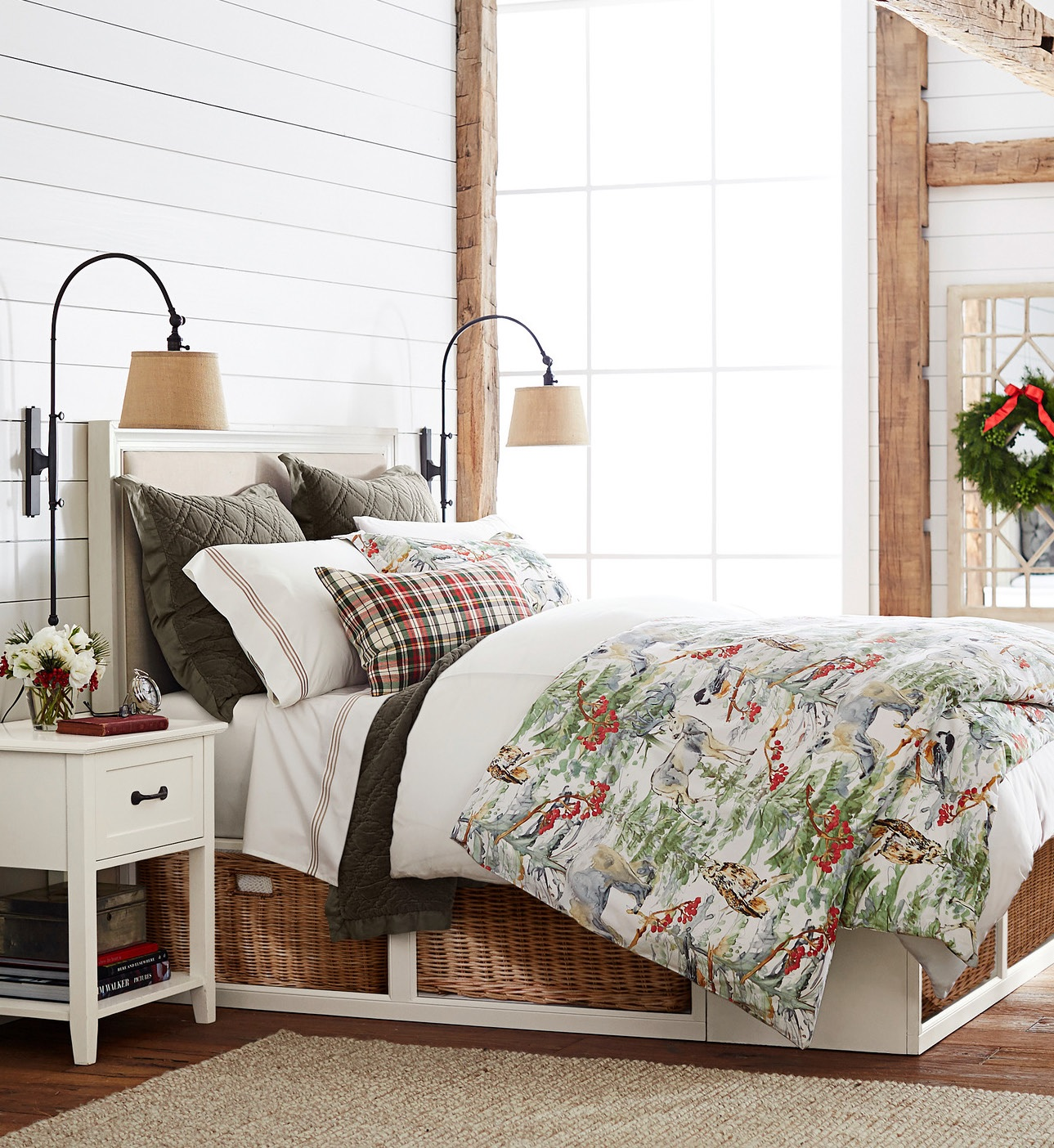 Christmas decor guest room bedding christmas all year it 39 s ever christmas - Pottery barn holiday bedding ...