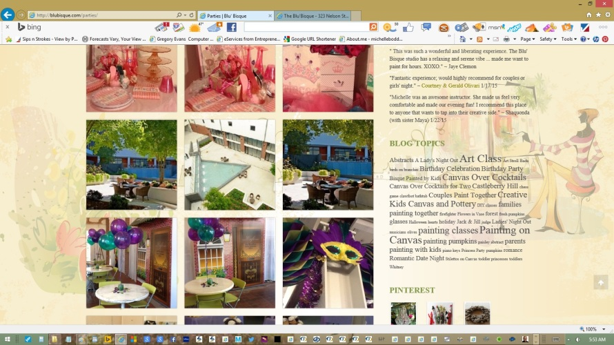 page-parties-text-copy-images-links-created-updated-by-michelle-boddie-website-designer-editor-c