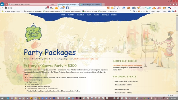 page-party-packages-text-copy-images-olive-headers-links-created-updated-by-michelle-boddie-website-designer-editor-a