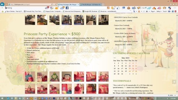 page-party-packages-text-copy-images-olive-headers-links-created-updated-by-michelle-boddie-website-designer-editor-c