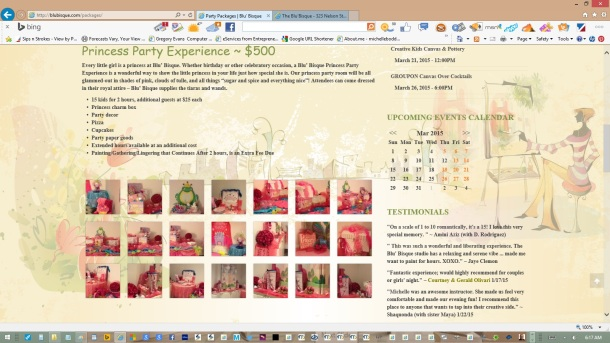 page-party-packages-text-copy-images-olive-headers-links-created-updated-by-michelle-boddie-website-designer-editor-d