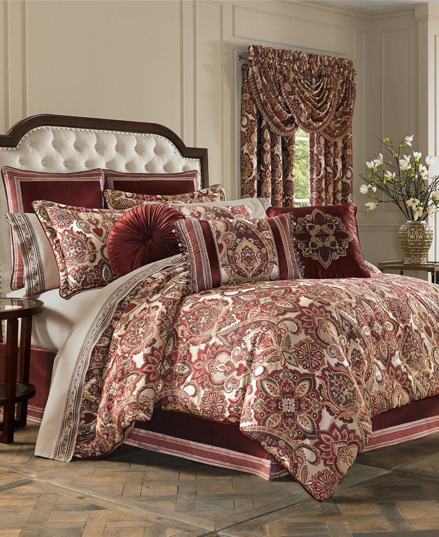 J. Queen New York Rosewood Burgundy Bedding Collection at Macy's