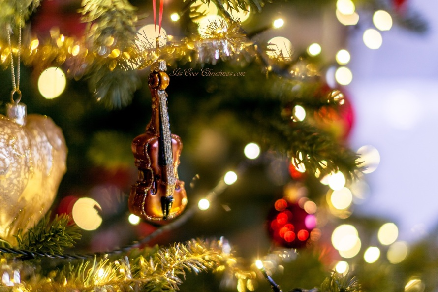 Christmas ornament violin/viola