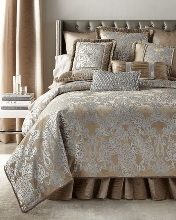 Christmas Decor - Bedding, Bed Linen Collections - Copper, Coffee Bean, Silver & Caramel colors