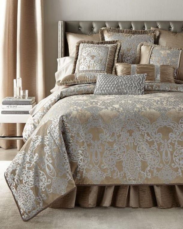 Christmas Decor - Bedding, Bed Linen Collections - Copper, Coffee Bean, Silver & Caramel colors
